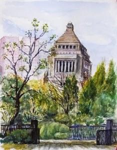 国会前庭から議事堂