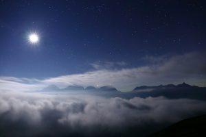 北アルプス星夜