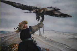 モンゴルの鷹狩り